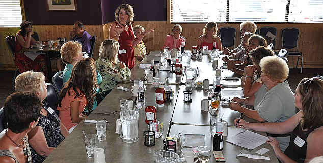 Renee welcomes all to the First Annual Miss Tri Cities Alumni Luncheon. 2009 photo